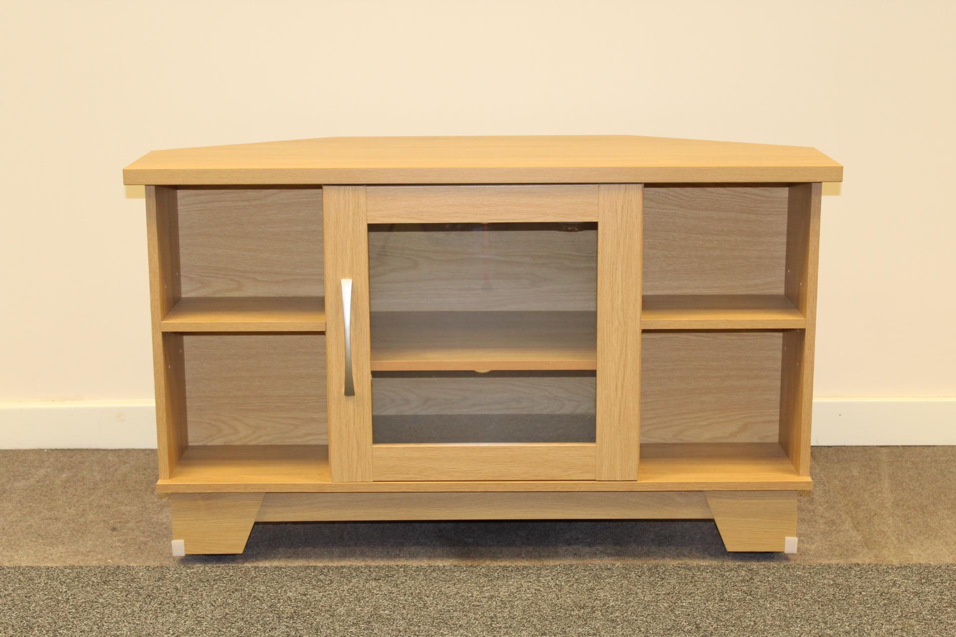 Litchfield Oak Corner Tv Cabinet Shipcote Furniture
