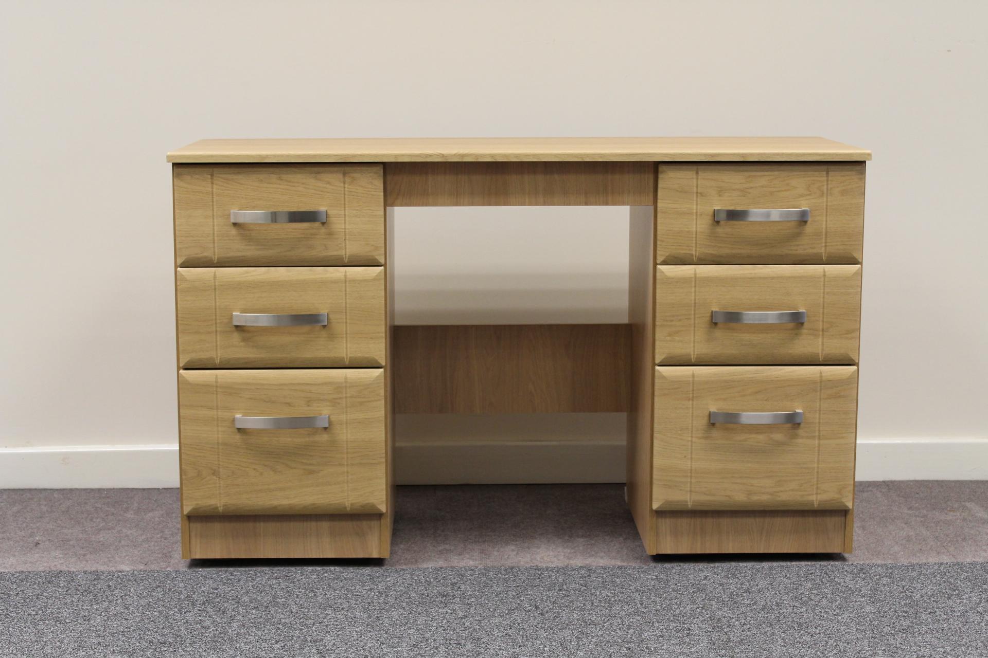 capri oak double dressing table shipcote furniture