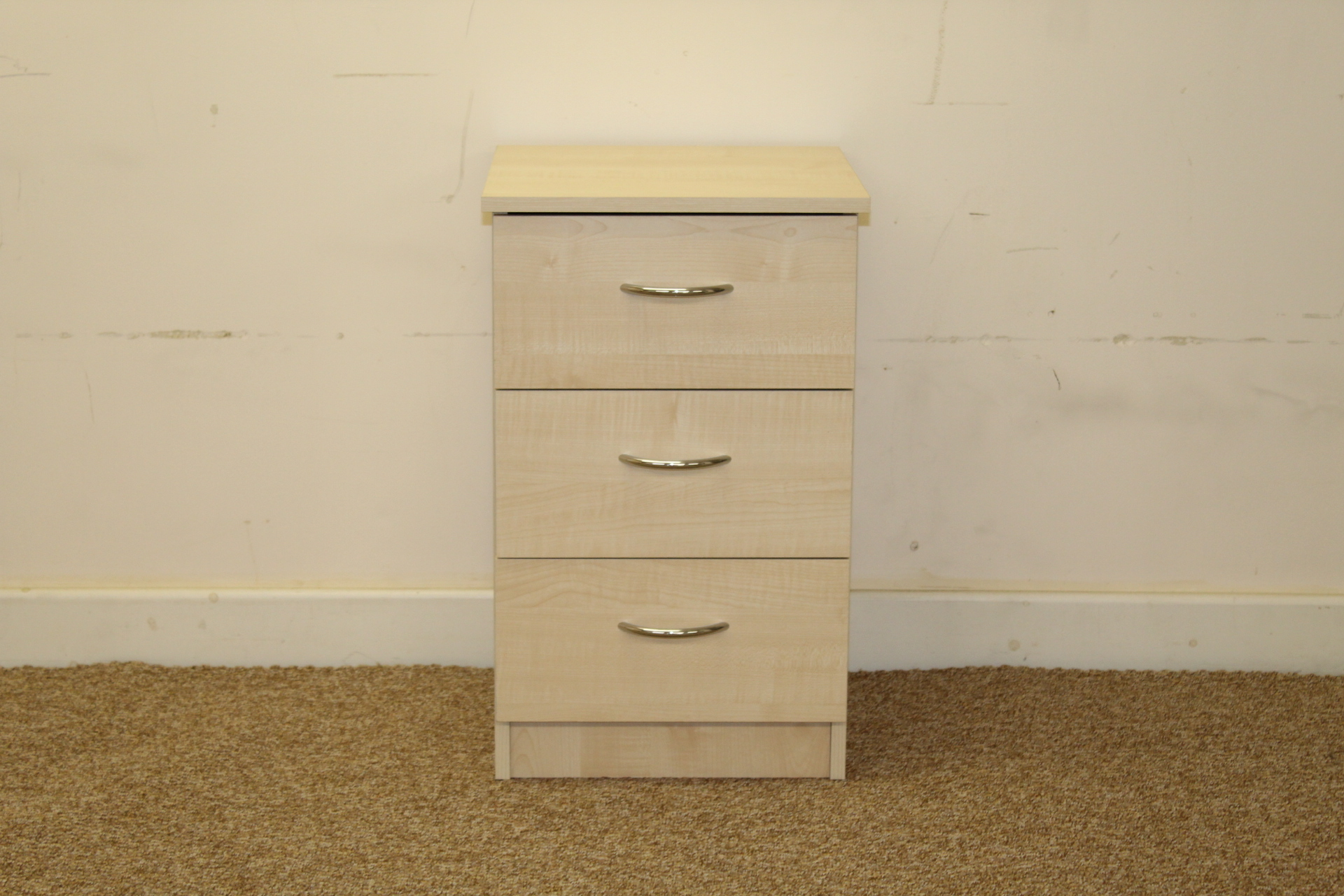 Elemental Maple 3 Drawer Bedside Shipcote Furniture